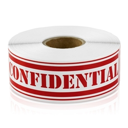 Confidential Sticker Labels
