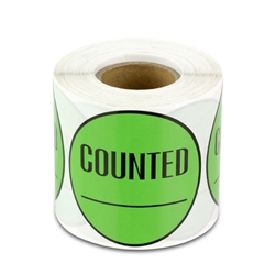 Counted Inventory Sticker Labels - Green