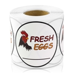 Fresh Eggs Sticker Labels