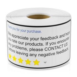 Thank You For Your Purchase Feedback Sticker Labels