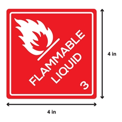 Flammable Liquid Sticker Labels