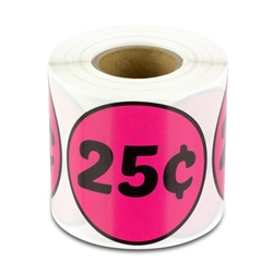2 inch - 25 Cent Stickers - Pricing Stickers