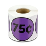 75 Cents Price Sticker Labels