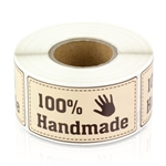 100% Handmade Sticker Labels