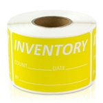 Inventory Count Date Yellow Stickers