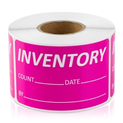 Inventory Count Date Pink Stickers
