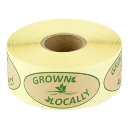 2 x 1 inch - Locally Grown Stickers - Locally Grown Labels