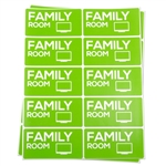 4 x 2 inch - Family Room Stickers - Moving Stickers