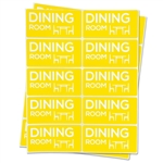 4 x 2 inch - Dining Room Stickers - Moving Stickers