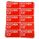 4 x 2 inch - Kitchen Stickers - Moving Stickers