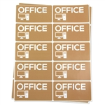 4 x 2 inch - Office Stickers - Moving Stickers
