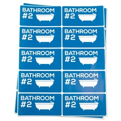 Bathroom #2 Moving Stickers
