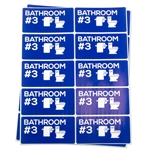 Bathroom #3 Moving Stickers