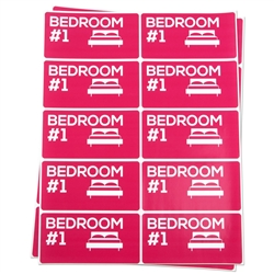 Bedroom #1 Moving Stickers