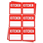 3 x 3 inch - Kitchen Stickers - Moving Stickers