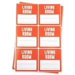 3 x 3 inch - Living Room Stickers - Moving Stickers