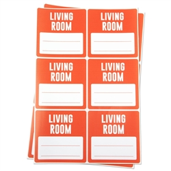 Living Room Memo Moving Stickers