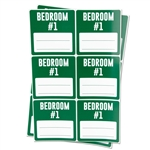 3 x 3 inch - Bedroom #1 Stickers - Moving Stickers