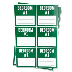 Bedroom #1 Memo Moving Stickers