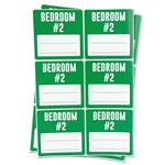 3 x 3 inch - Bedroom #2 Stickers - Moving Stickers