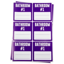 3 x 3 inch - Bathroom #1 Stickers - Moving Stickers