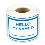3 x 2 inch -  Hello My Name Is Stickers ( Blue ) - Name Tags