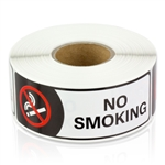 3 x 1 inch No Smoking Stickers - No Smoking Labels