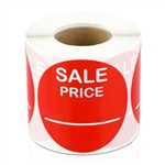 Sale Price Stickers -  Red