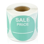 2 inch - Sale Price Stickers (  Turquoise ) - Pricing Stickers
