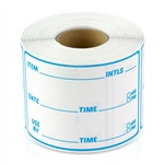 3 x 2 inch - Item Use By Date Stickers ( Blue ) - Food Rotation Labels