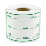 3 x 2 inch - Item Use By Date Stickers ( Green ) - Food Rotation Labels