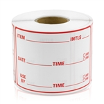Item Use By Date Stickers - Red