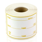 3 x 2 inch - Item Use By Date Stickers ( Gold ) - Food Rotation Labels