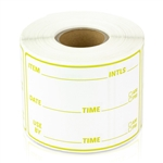 3 x 2 inch - Item Use By Date Stickers ( Yellow ) - Food Rotation Labels