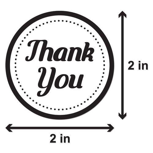 2 Inch Thank You Stickers Thank You Labels Circle Stickers