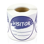 Visitor Name Date Stickers - Blue