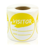 Visitor Name Date Stickers - Yellow