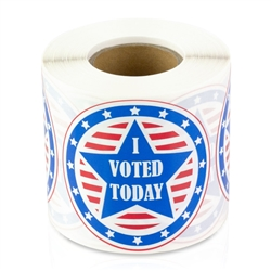 I Voted Today Stars & Stripes Round Sticker
