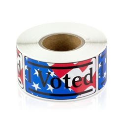 "I Voted 1"" x 2"" Flag Sticker"