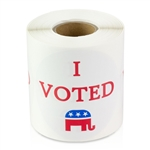 2.5 inch - I Voted Republican Stickers - Voting Stickers