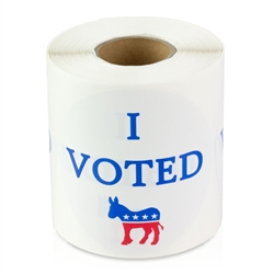 I Voted Democrat Sticker