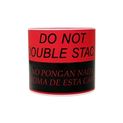 "5"" x 3"" Do Not Double Stack (English / Spanish) Warning Stickers Labels"