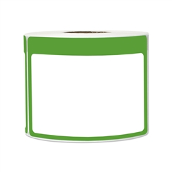 "3.5"" x 2.25"" Write-In Name Tag (Green) Stickers Labels"