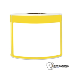 "3.5"" x 2.25"" Write-In Name Tag (Yellow) Stickers Labels"