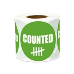 "2"" Inventory: Counted Stickers Labels"