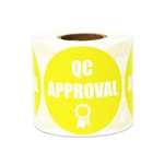 "2"" Quality Control: QC Approval Stickers Labels"