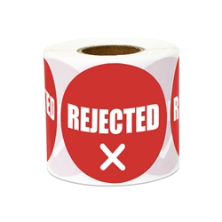 "2"" Quality Control: Rejected Stickers Labels"