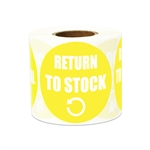 "2"" Inventory: Return Stock Stickers Labels"
