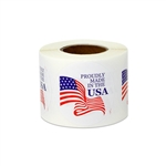 "1.5"" Proudly Made in the USA Stickers Labels"
