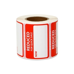 "1.63"" x 1.13"" Reduced for Quick Sale Stickers Labels"